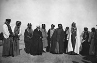 Bell Box 2/24 Ibn Saud with other officials and dignitaries, Basra 1916