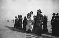 Bell Box 2/17 Ibn Saud, Cox and others watching an ?RFC display, Basra 1916