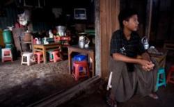 Tea shop in Myanmar