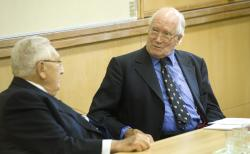 Alistair Horne and Henry Kissinger