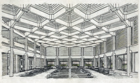 Sketch of the dining hall