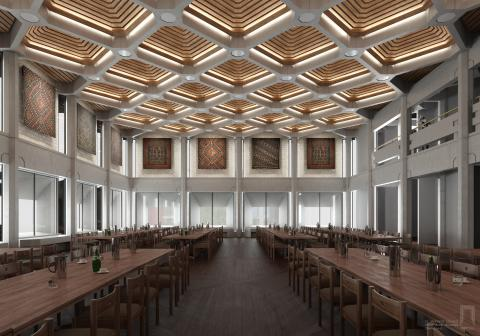 Conceptual art for the new Dining Hall