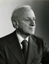 Albert Hourani, the first director of the Middle East Centre of St Antony's College, photography by Ramsey Muspratt, Oxford