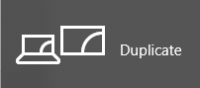 Duplicate menu option for additional screens in windows 10