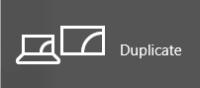 Duplicate menu option for additional screens in windows 10