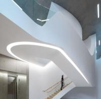 Investcorp building stairwell from basement to ground floor