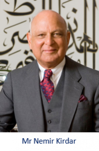 Mr Nemir Kirdar, Founder, Executive Chairman and CEO of the global investment group, Investcorp, funder of the Investcorp Building construction