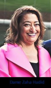 Dama Zaha Hadid, architect of the Investcorp Building
