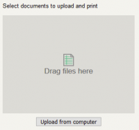Picture of the PaperCut Web upload area