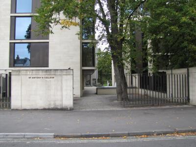 St Antony's College Gate