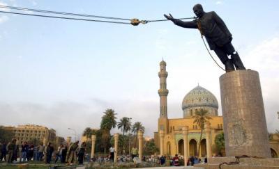 Saddam Statue Toppled